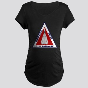 F-111 Aardvark - Whispering Maternity Dark T-Shirt