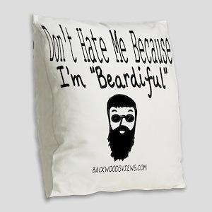 Beardiful Burlap Throw Pillow