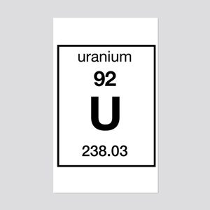 Uranium Rectangle Sticker