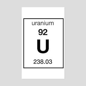 Periodic table uranium stickers cafepress uranium rectangle sticker urtaz Image collections