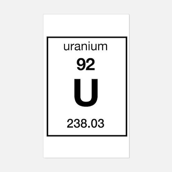 Uranium periodic table stickers cafepress uranium rectangle decal urtaz Image collections