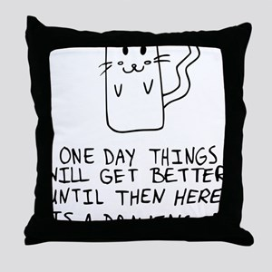 Here is the drawing of a cat_CP Throw Pillow