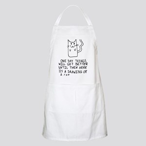 Here is the drawing of a cat_CP Apron