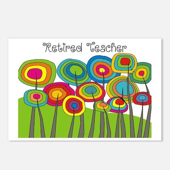 Retired Teacher Whimsical Postcards (Package of 8)