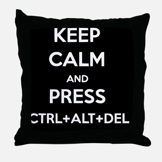 Ctrl+Alt+Del 2 Throw Pillow
