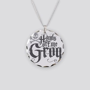 Hands Off Me Grog Necklace Circle Charm