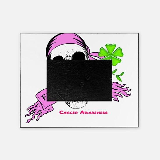 Fight For a Cure Skull Scroll Pink Picture Frame