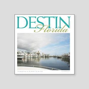 """Destin Harbor Square Sticker 3"""" x 3"""""""