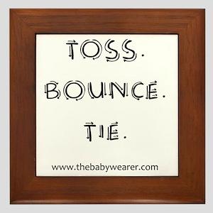 Toss. Bounce. Tie. Framed Tile