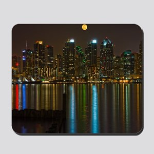 Full moon over San Diego Mousepad