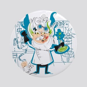 Dr. Stahl, Mad Scientist Round Ornament