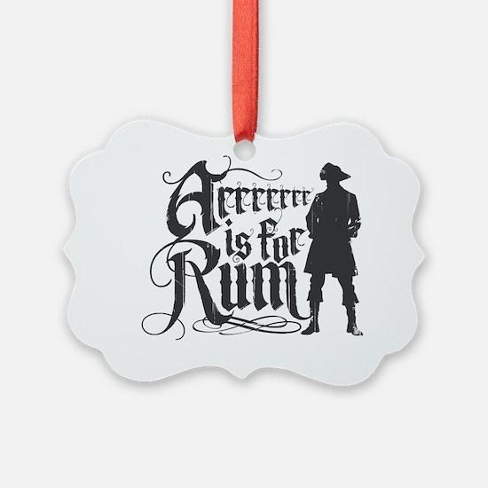 Arrrrrrr is for Rum Ornament