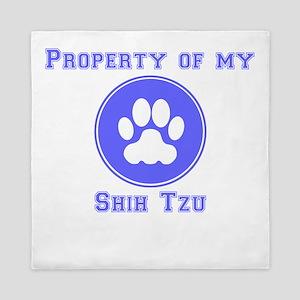 Property Of My Shih Tzu Queen Duvet