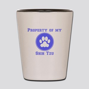 Property Of My Shih Tzu Shot Glass