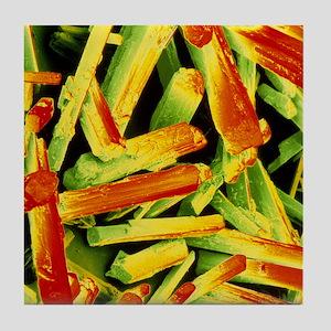 False-colour SEM of monosodium glutam Tile Coaster