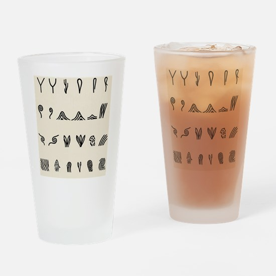 Features of fingerprints Drinking Glass