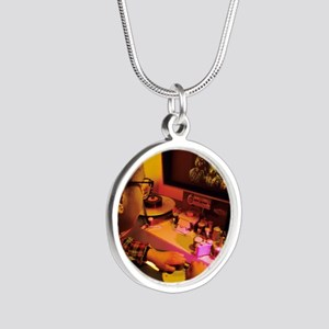Film editing Silver Round Necklace