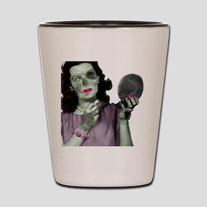 Pin Up Zombie Girl Shot Glass