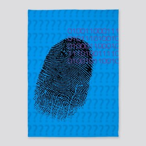 Fingerprint 5'x7'Area Rug