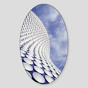 Shopping centre architecture Sticker (Oval)