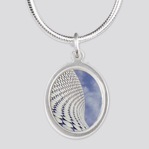 Shopping centre architecture Silver Oval Necklace