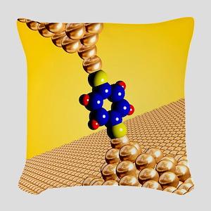 Seebeck electrical effect, art Woven Throw Pillow