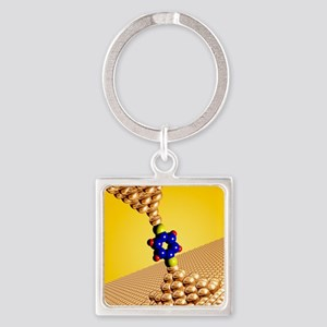 Seebeck electrical effect, artwork Square Keychain