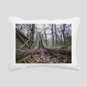 Coaster Tracks Rectangular Canvas Pillow