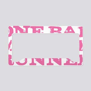 One Bad Mother Runner Pink License Plate Holder