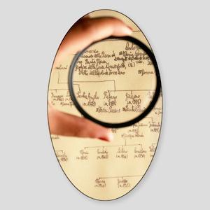Family tree Sticker (Oval)