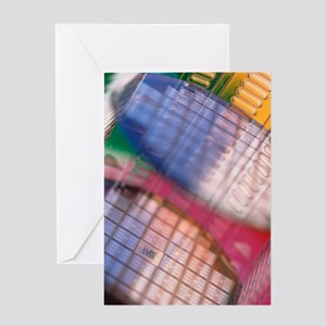 Silicon wafers Greeting Card