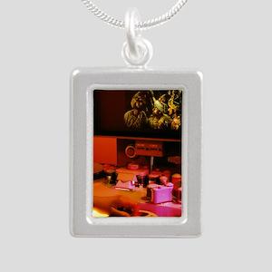 Film editing Silver Portrait Necklace