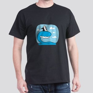 Silly Surfing Penguin Dark T-Shirt