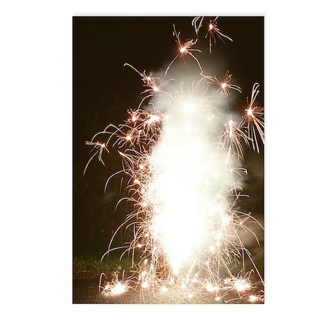 Fireworks display Postcards (Package of 8)