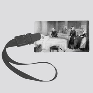 Florence Nightingale in a milita Large Luggage Tag