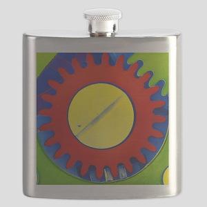 False-colour SEM of the crown wheel of a Flask