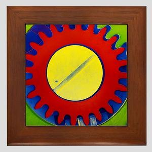 False-colour SEM of the crown wheel of Framed Tile
