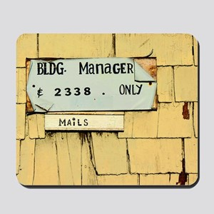 Sign and Mail Slot Mousepad