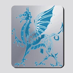 Blue And Silver Dragon Mousepad