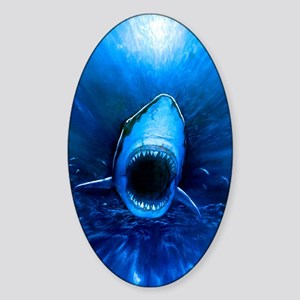 Shark attack Sticker (Oval)