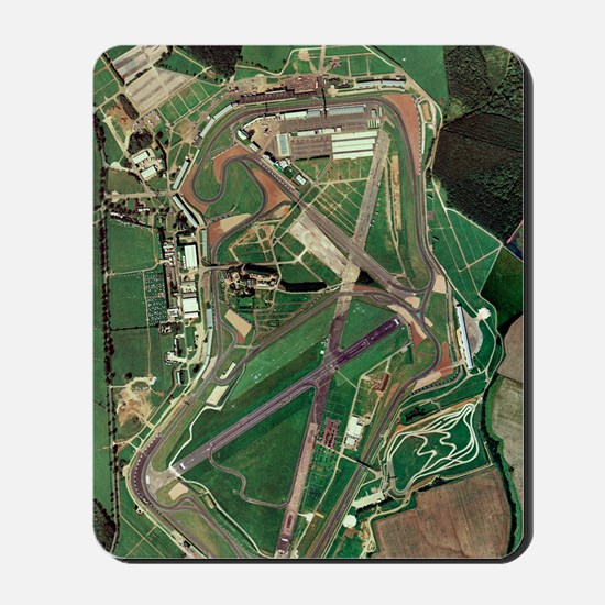 Silverstone race track, aerial image Mousepad