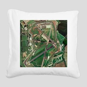 Silverstone race track, aeria Square Canvas Pillow