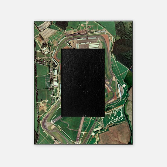 Silverstone race track, aerial image Picture Frame