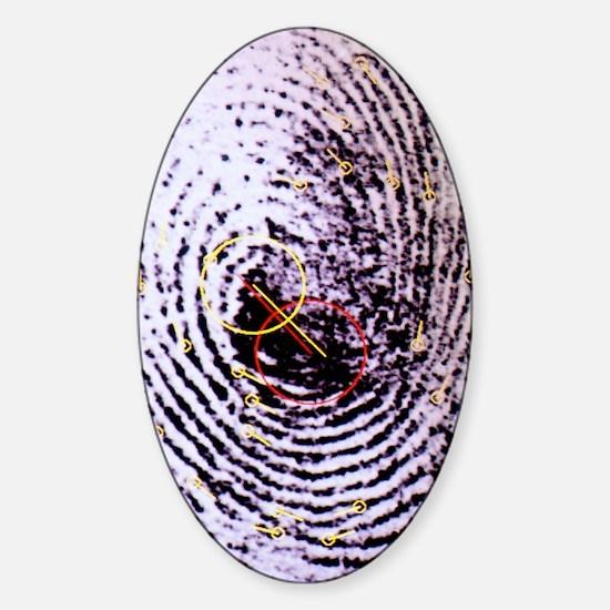 Fingerprint analysis Sticker (Oval)