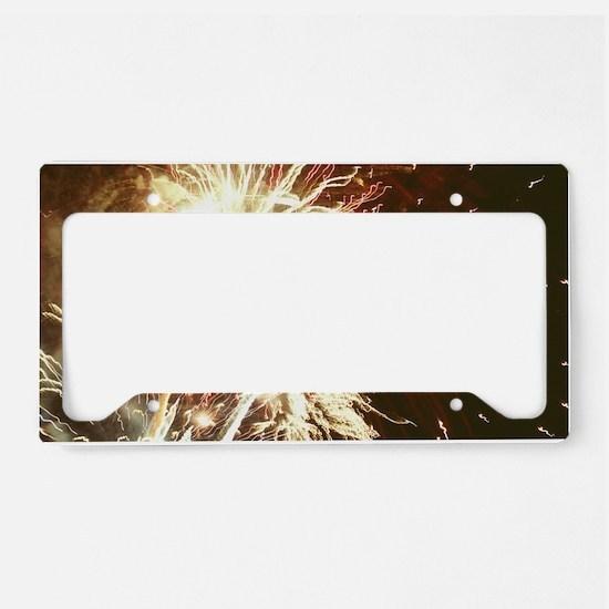 Firework display License Plate Holder