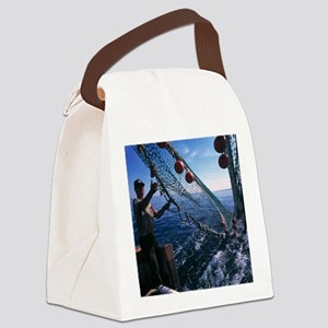 Fishing for scientific specimens Canvas Lunch Bag