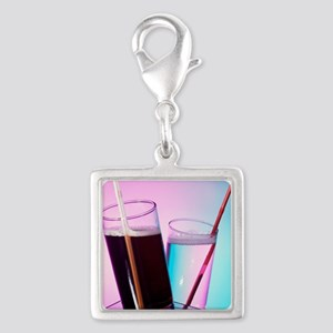 Fizzy drinks Silver Square Charm