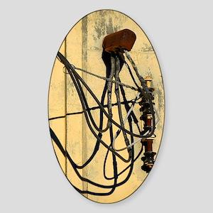 Wire Hookup on Wall Sticker (Oval)