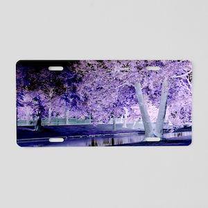 Shades Of Purple Aluminum License Plate