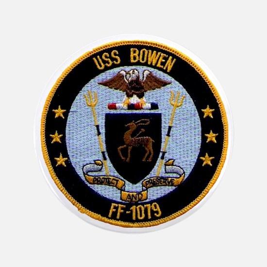 """uss bowen ff patch transparent 3.5"""" Button"""